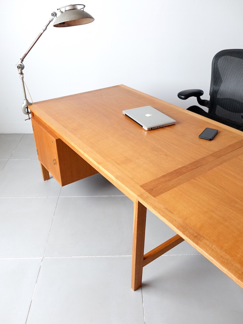 Extension desk by H. Brockmann Petersen in oak
