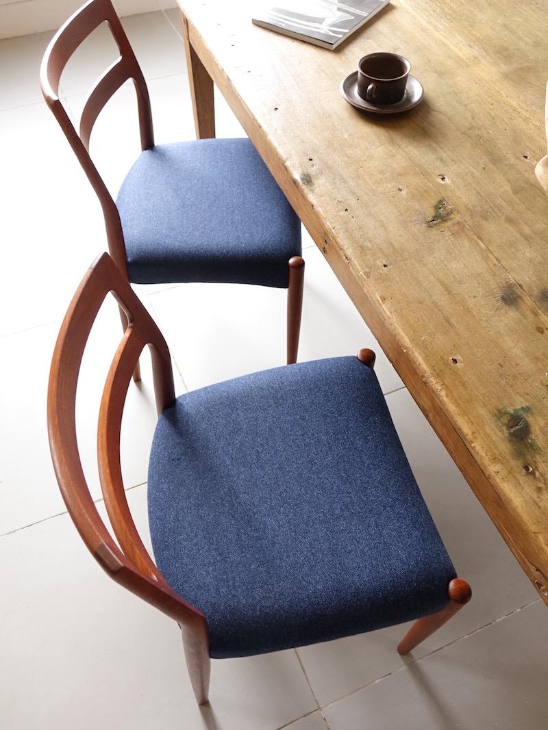 Model Anne dining chairs by Johannes Andersen for Uldum Møbelfabrik