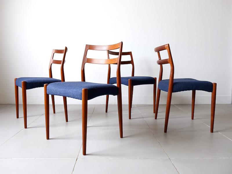 Model Anne dining chairs by Johannes Andersen for Uldum Møbelfabrik