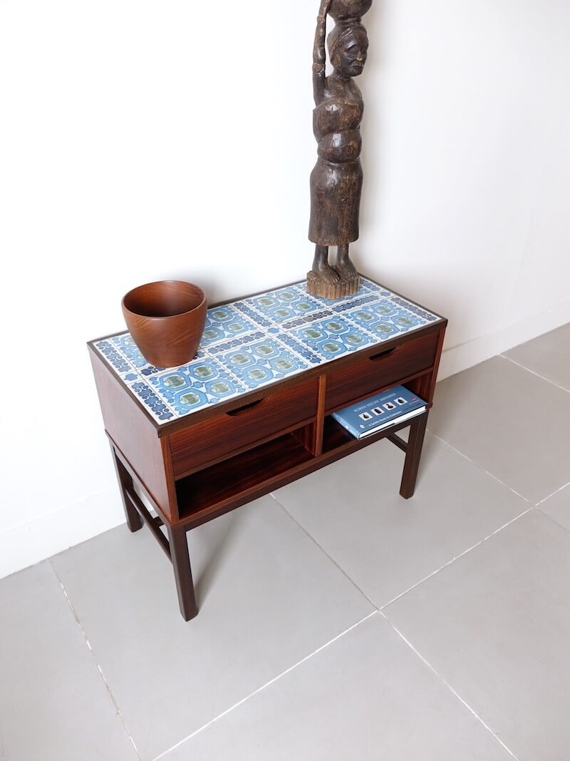 """""""Tenera"""" Tile top chest by Haslev with Royal Copenhagen"""