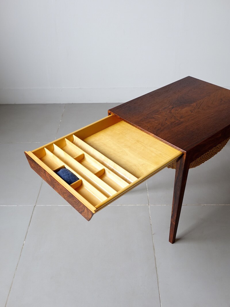 Sewing table by Severin Hansen Jr. for Haslev in Rosewood
