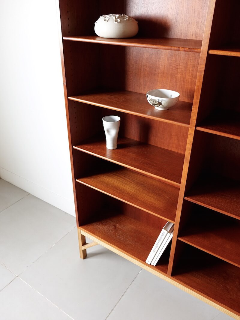 Bookcase by Borge Mogensen for FDB in teak/oak