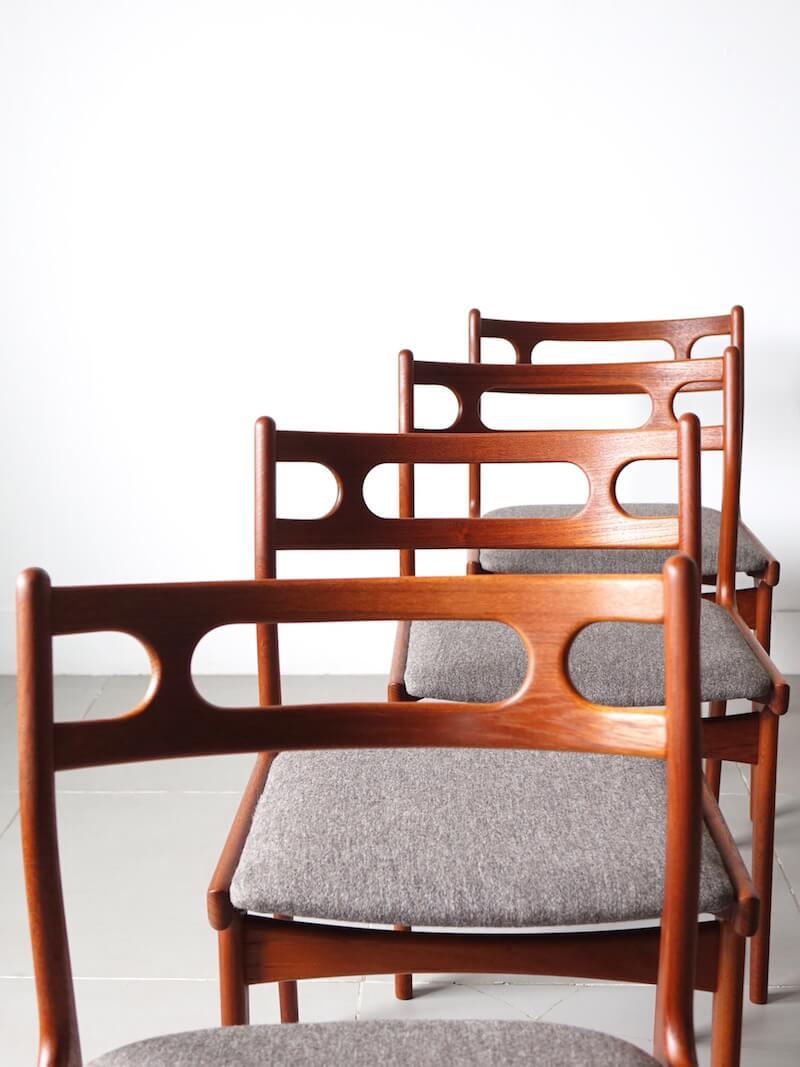 Dining Chairs by Johannes Andersen for Uldum Mobelfabrik