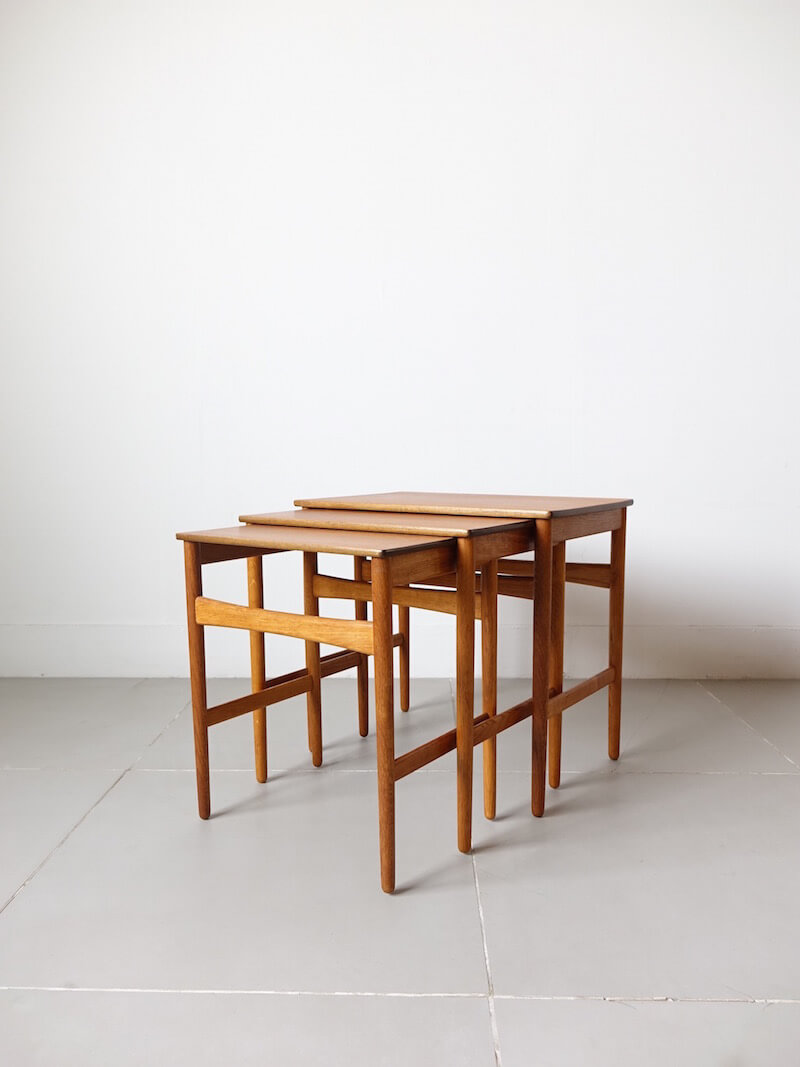 AT40 Nesting table by Hans J. Wegner for Andreas Tuck