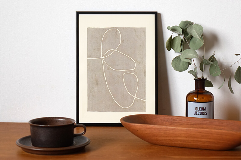 Organic lines by Leise Dich Abrahamsen