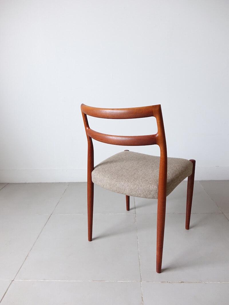 Dining chairs Anne by Johannes Andersen for Uldum Møbelfabrik