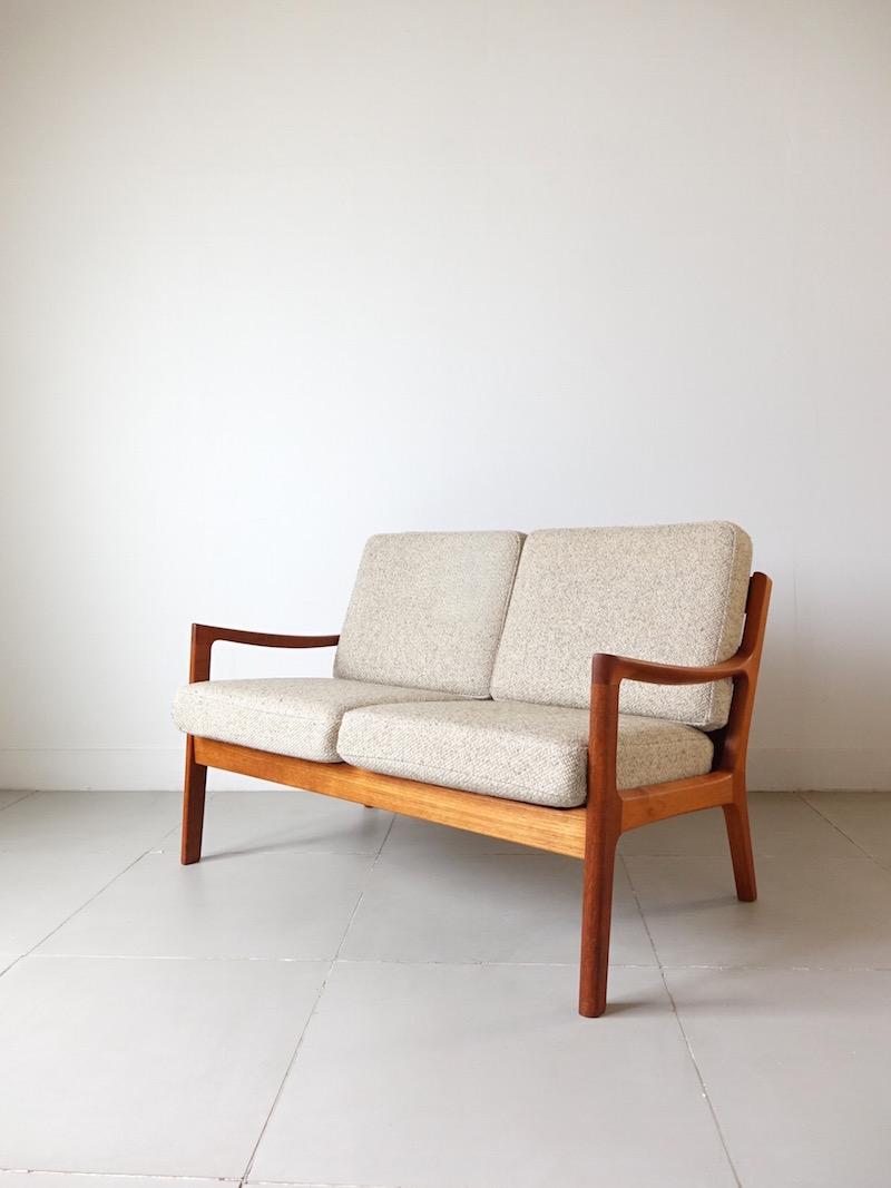 Senator 2 Seater Teak Sofa by Ole Wanscher for P. Jeppesen