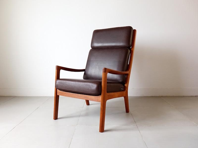 Senetor Highback chair by Ole Wanscher for P. Jeppesen