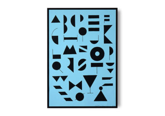 Blue Fonts by Leise D Abrahamsen