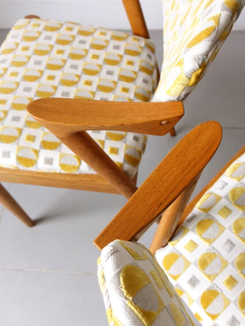 No.42 Dining chairs by Kai Kristiansen with Guell Lamadrid