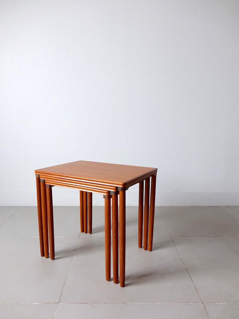 Nesting tables by E. W. Bach for Møbelfarikken Toften