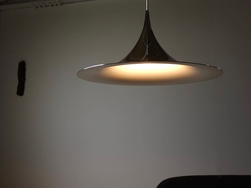 Silver Semi Pendant Lamp by Claus Bonderup & Torsten Thorup