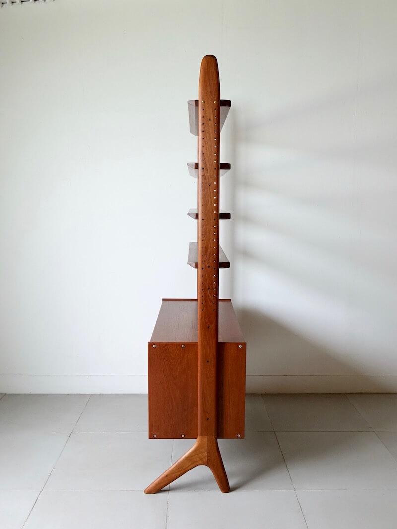 Teak wall unit by Arne Hovmand Olsen for Jutex