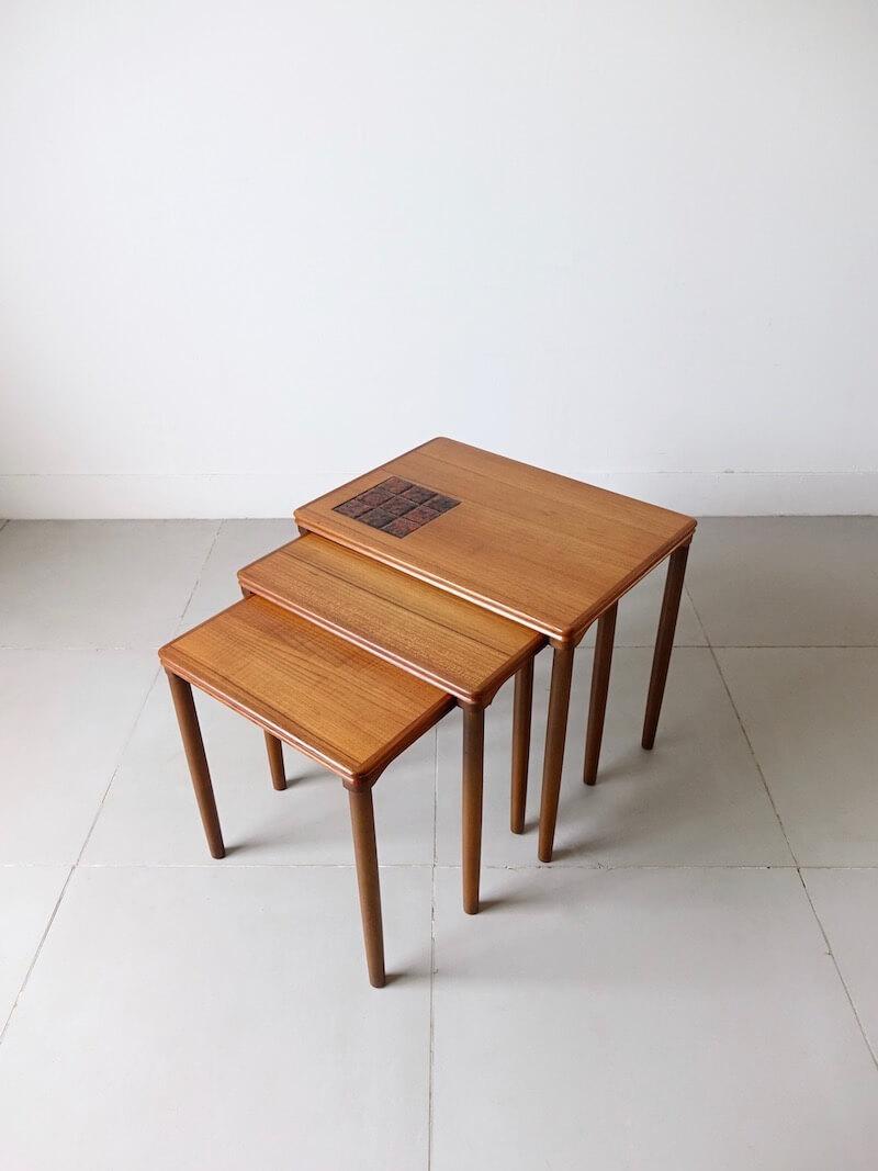 Nesting tables by E. W. Bach for Møbelfarikken Toften in teak
