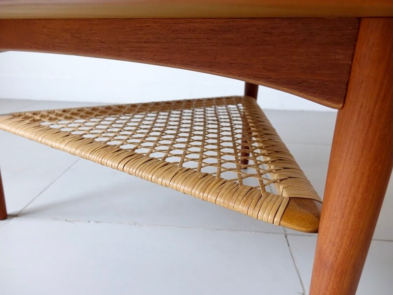 Triangular table by Poul Jensen for CFC Silkeborg