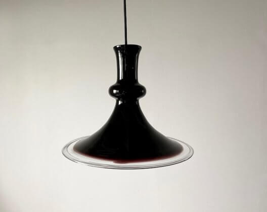 """Glass Pendant Lamp """"Etude"""" by Michael Bang for Holmegaard"""