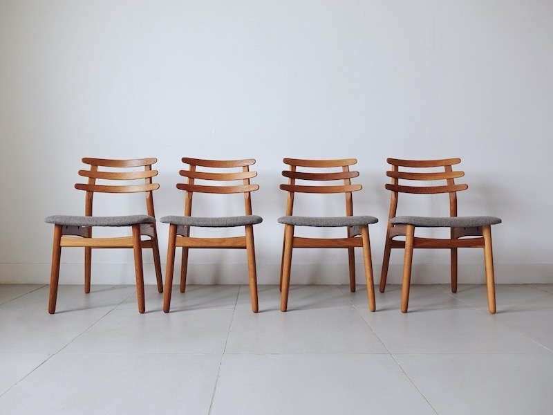 J48 Dining Chairs by Poul M Volther for FDB Mobler