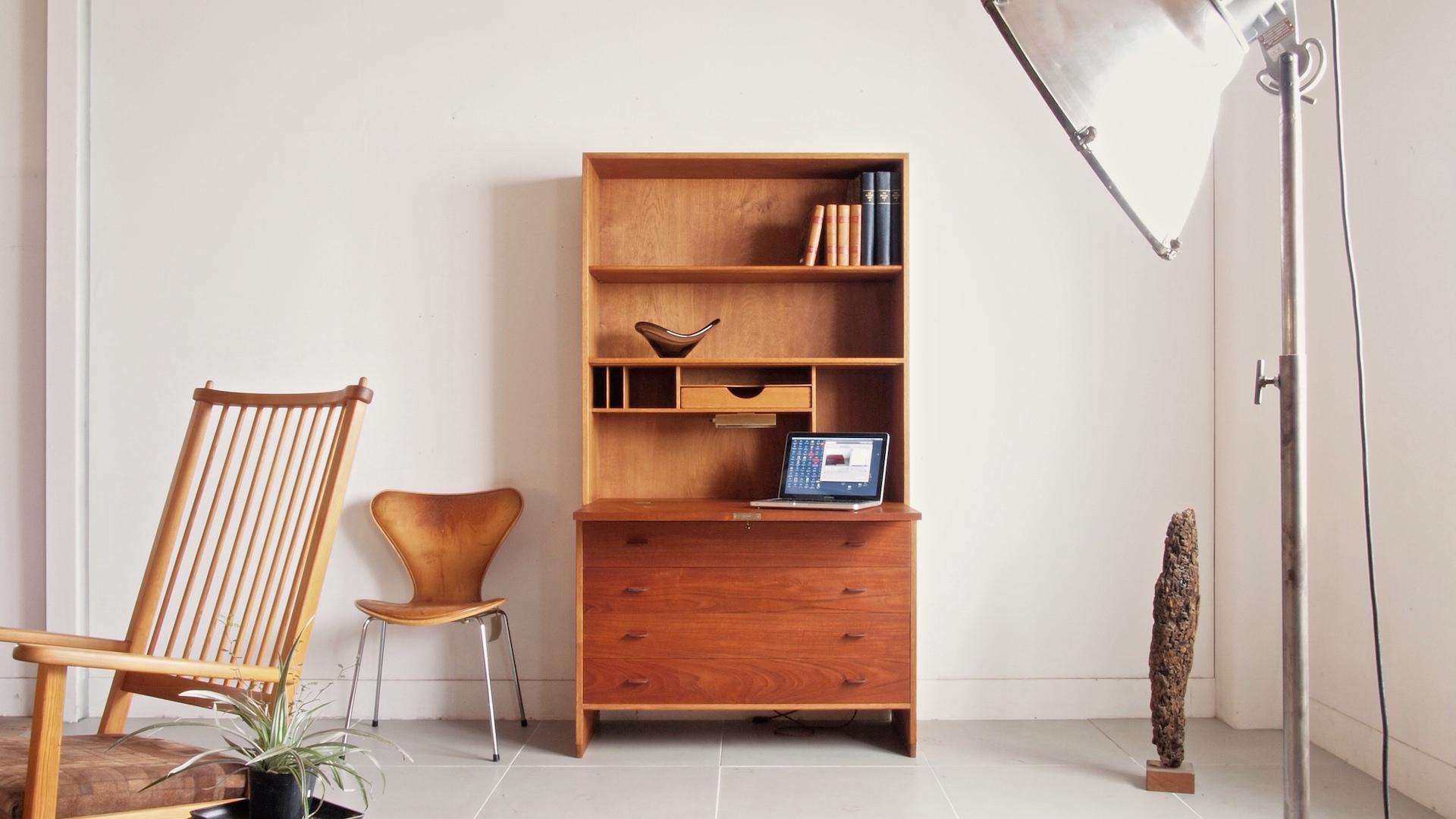 Bookshelf with desk by Hans J. Wegner