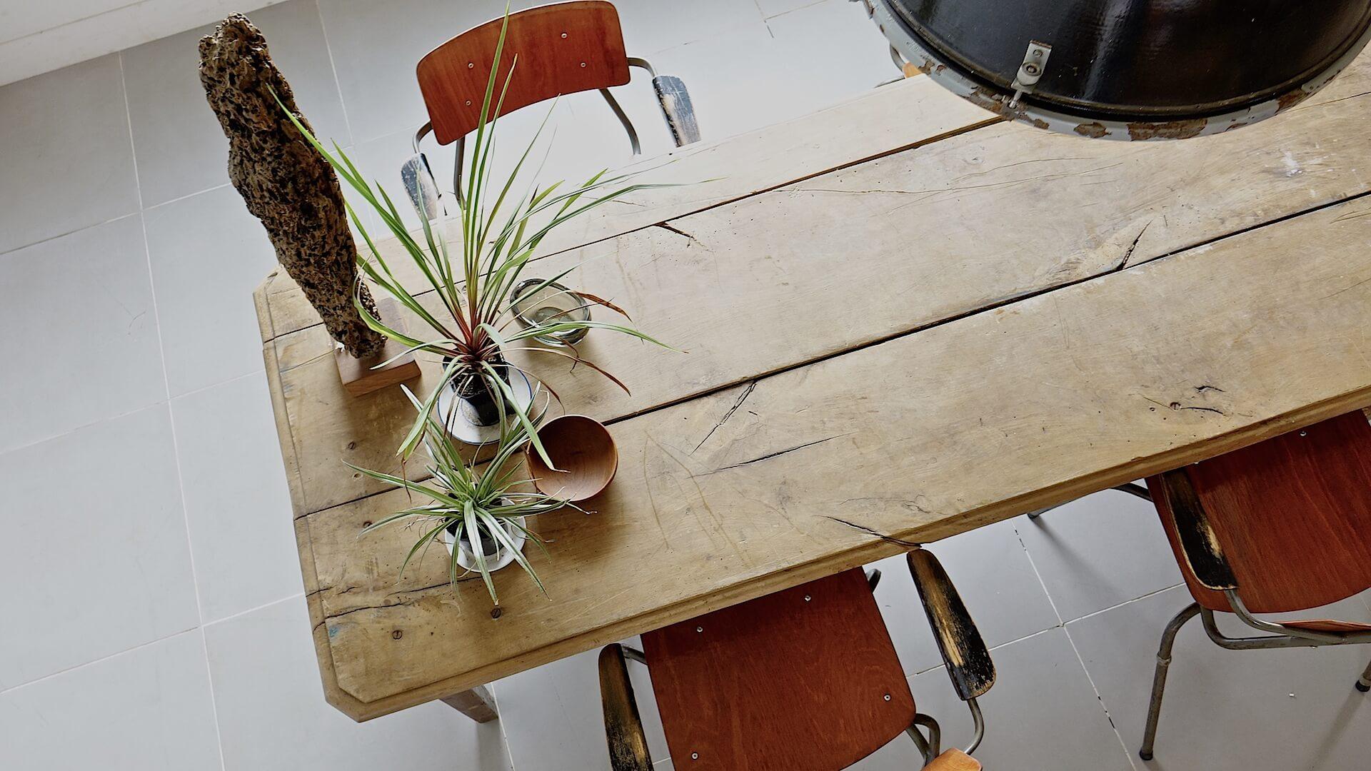 Huge farm wood table