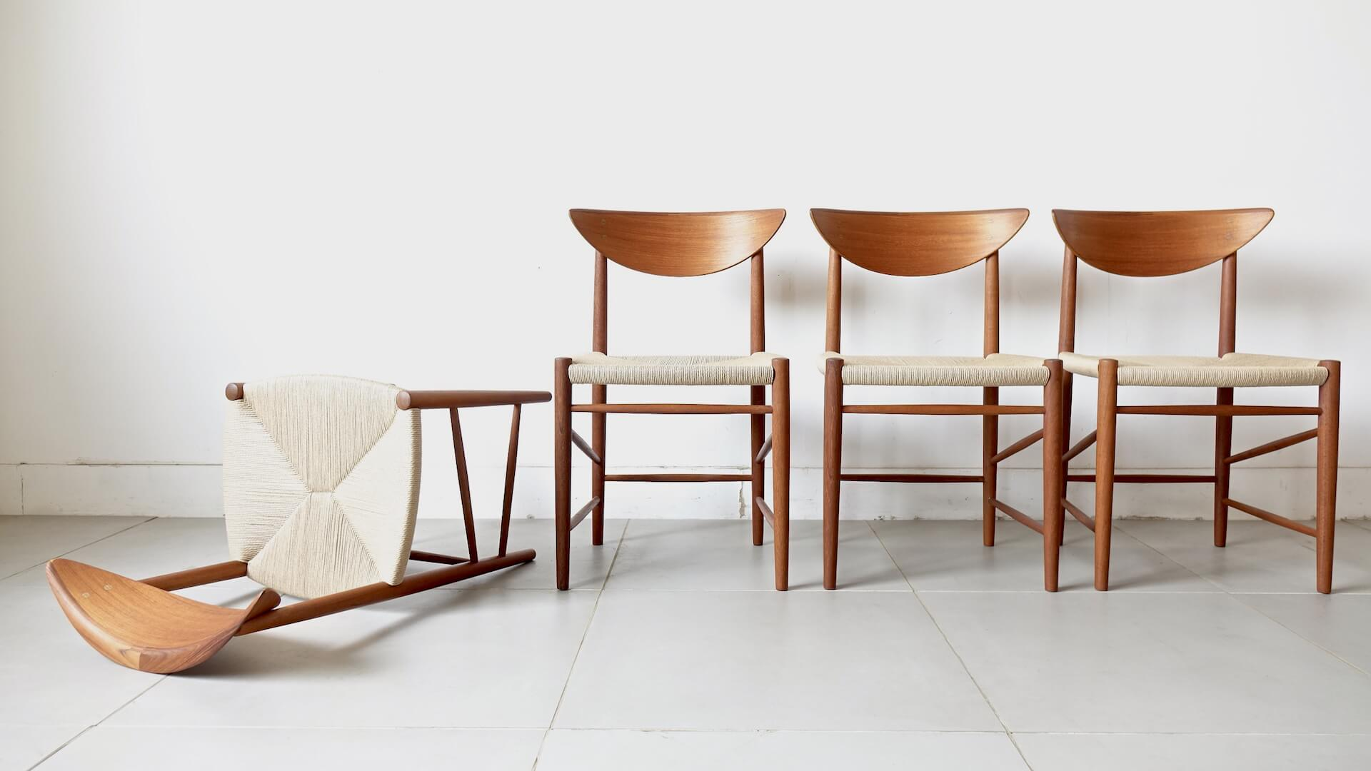 Model.316 Dining chairs by Peter Hvidt & Orla M. Nielsen