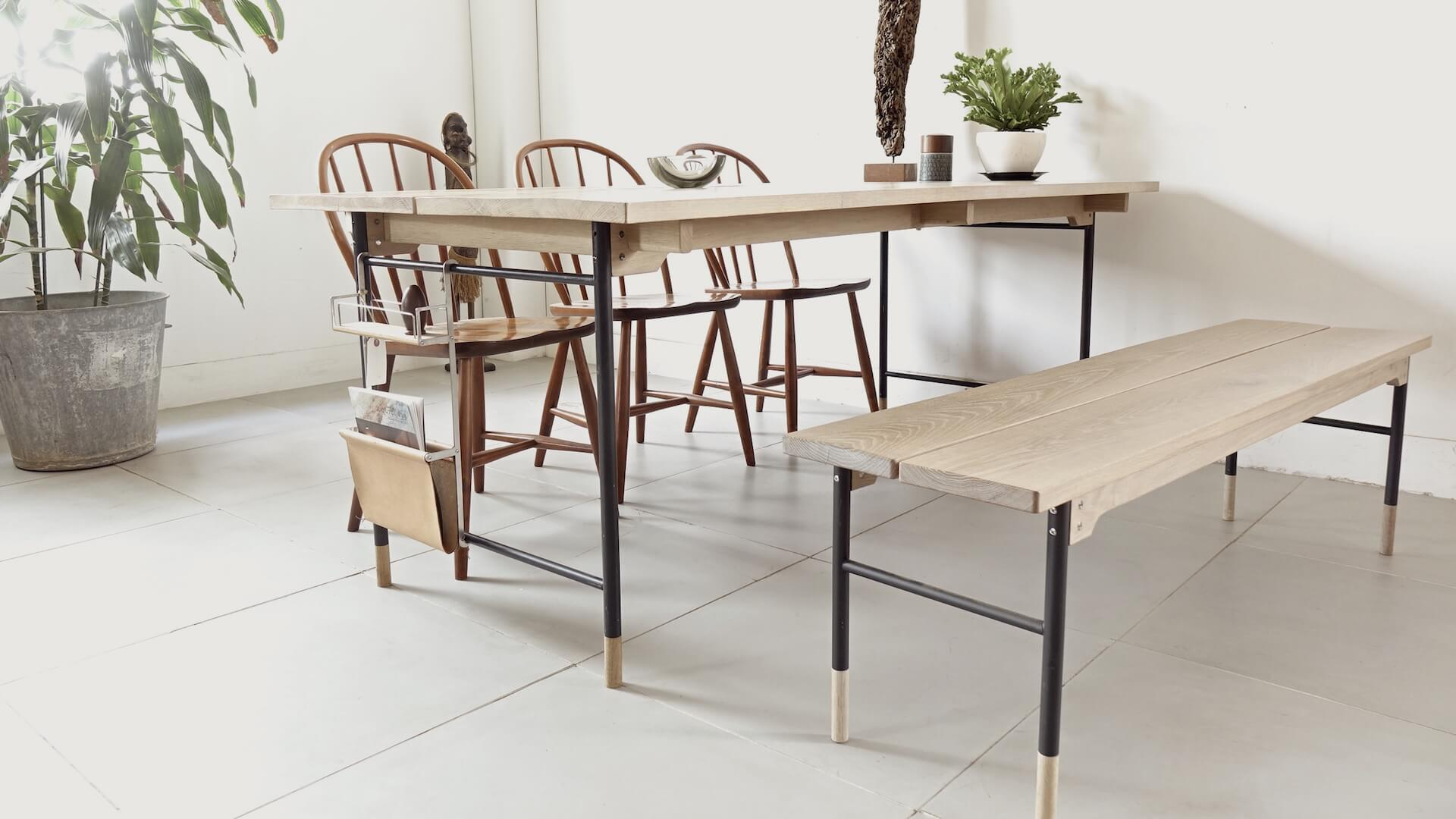 Dining table with Bench by Veronica
