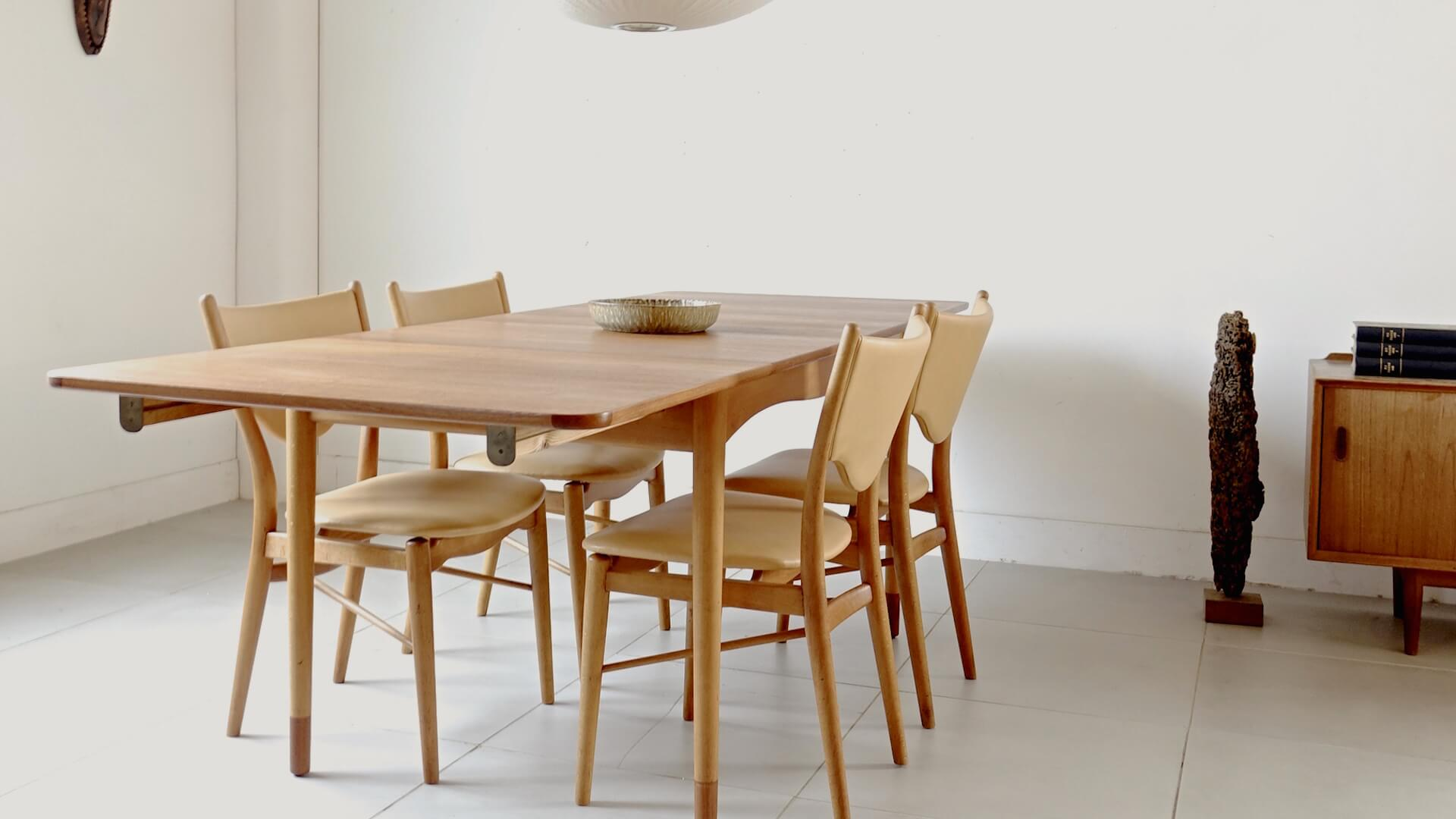 """Bo63"" Dining Chairs With Dining Table By Finn Juhl For Bovirke"