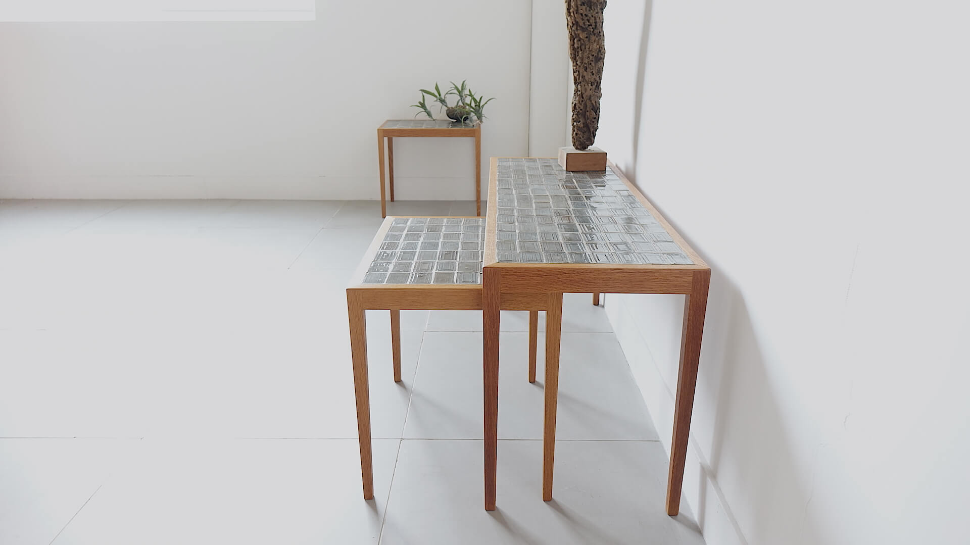 Tiletop nesting table for Illums Bolighus