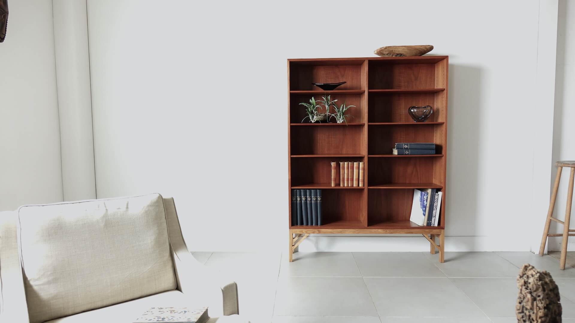 Bookcase in teak by Borge Mogensen
