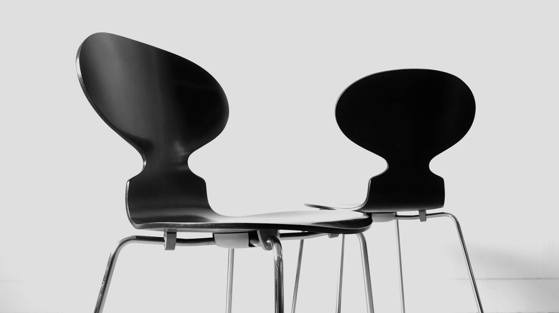"Ant chairs ""FH3101"" by Arne Jacobsen"