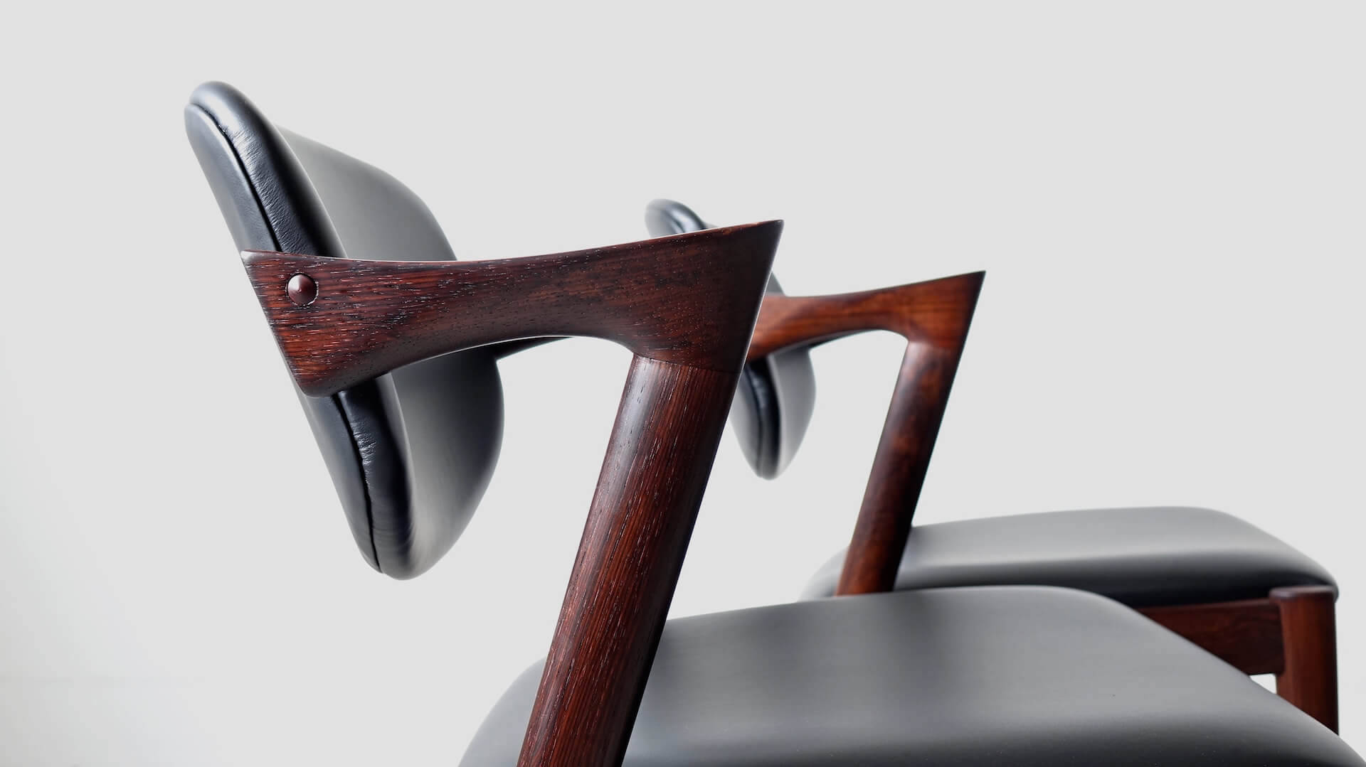 """No.42"" Dining chairs by Kai Kristiansen in rosewood"