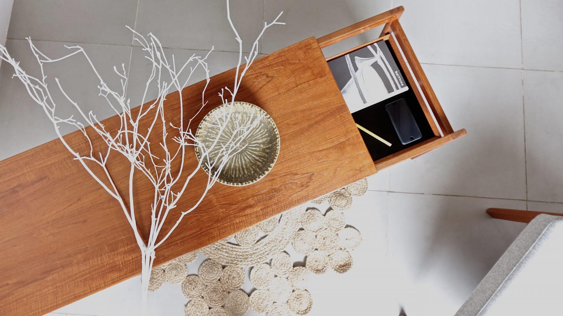 Coffee table in teak by Hans Olsen