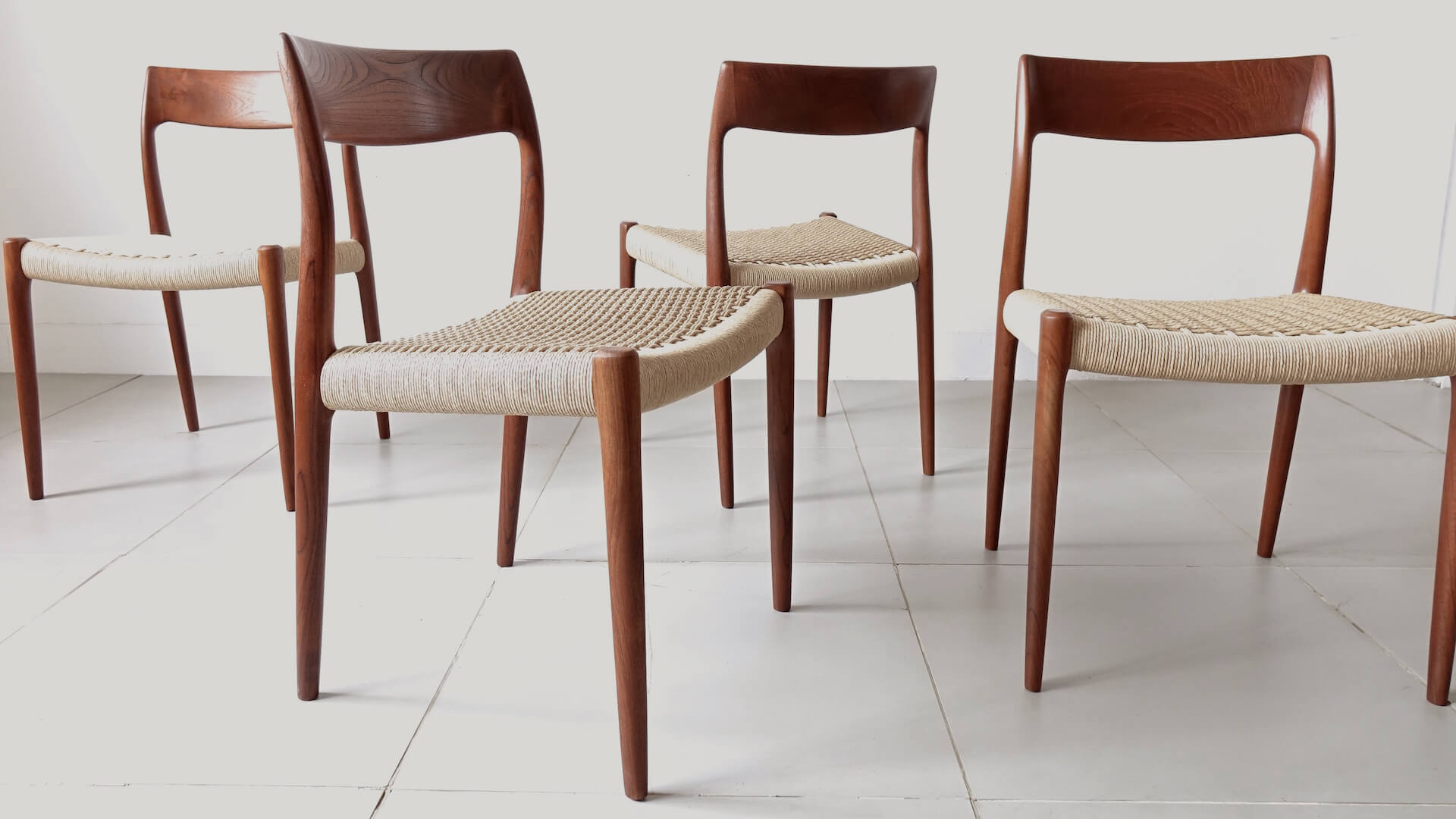 "Dining chairs ""Model 77"" by Niels O. Møller"