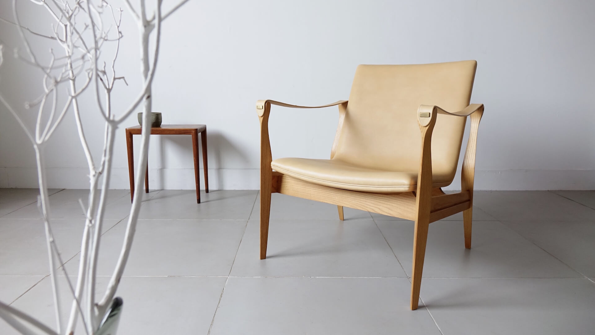 """Model 4305"" Safari chair by Karen & Ebbe Clemmensen (Leather upholstery)"
