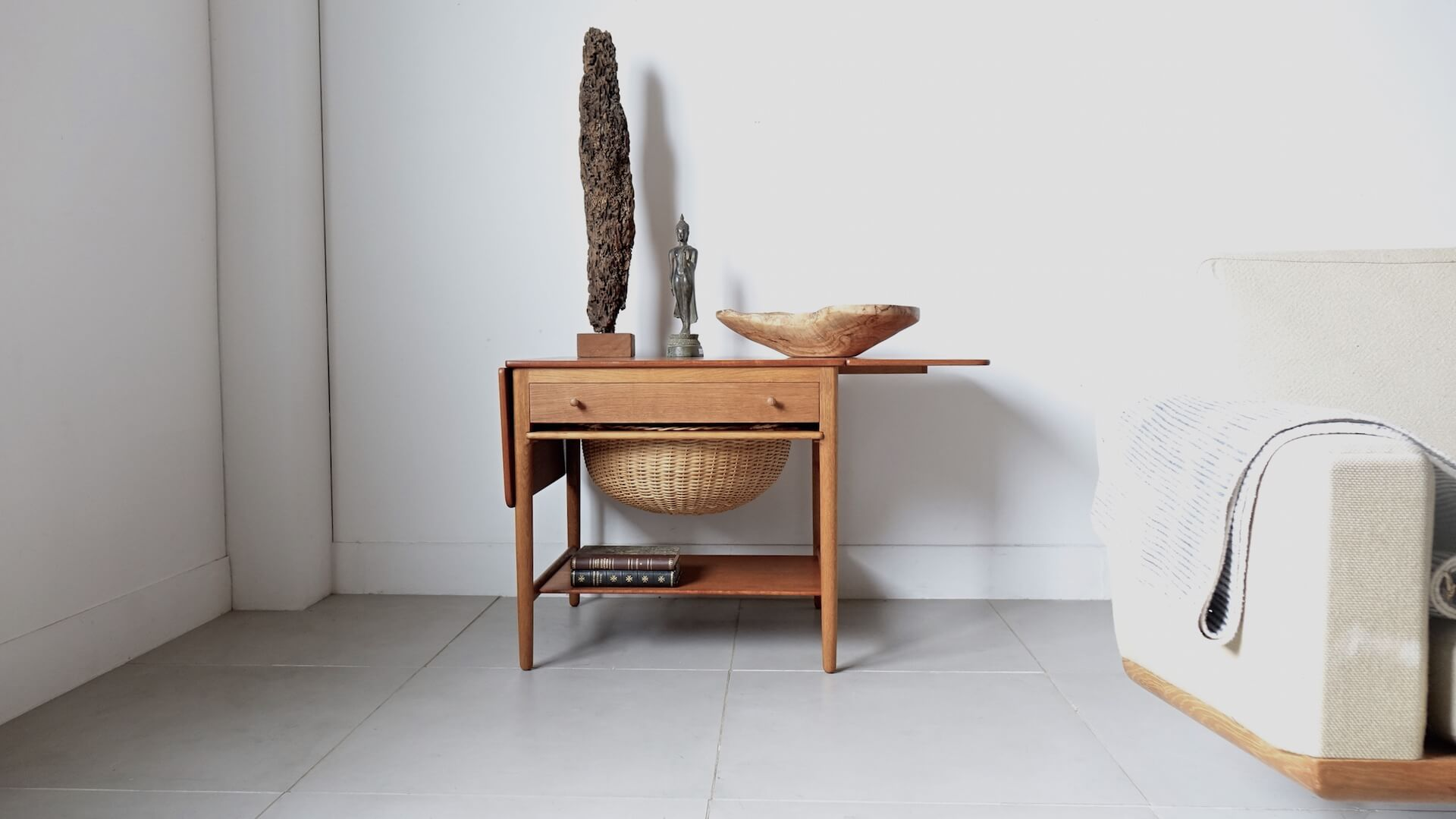 """AT33"" Sewing table by Hans J.Wegner"