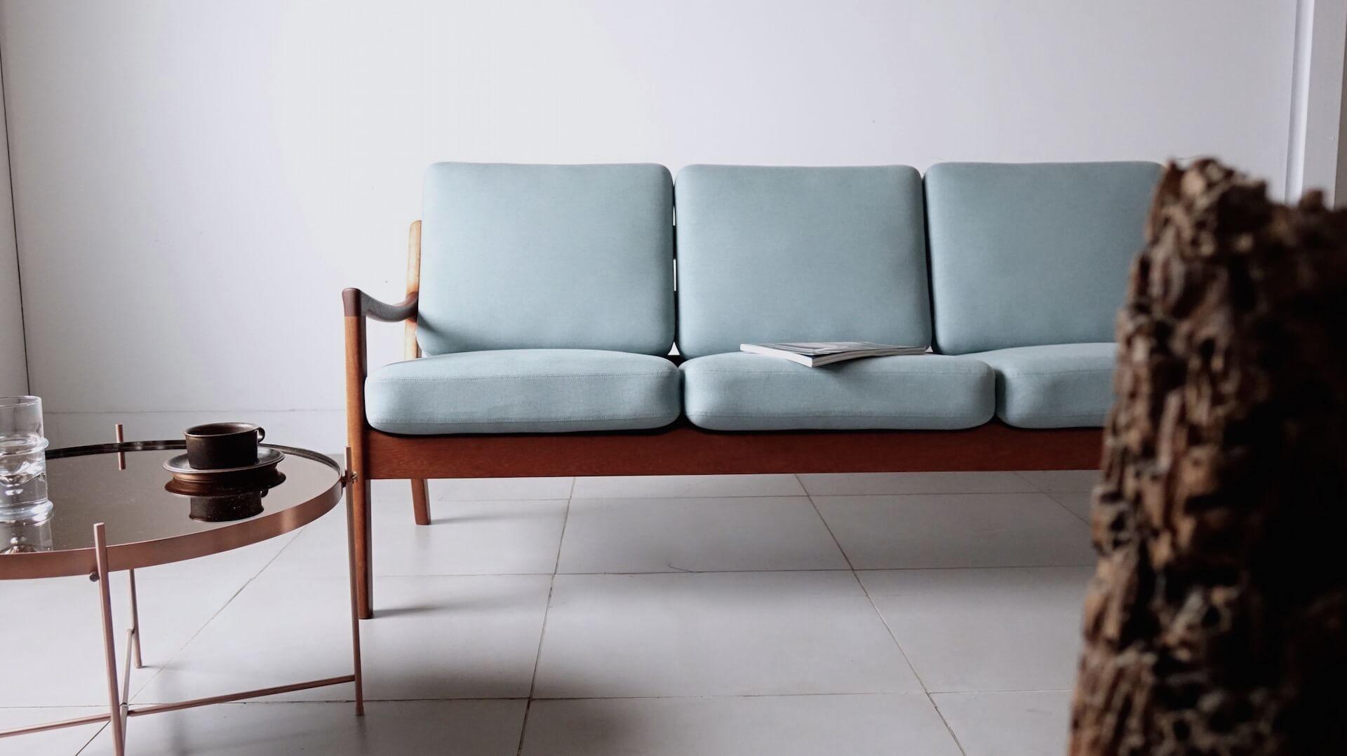 "Model.169 ""Senator"" sofa by Ole Wancher for CADO"